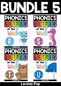 Phonics Letter of the Week AUSTRALIAN BUNDLE 5