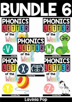 Phonics Letter of the Week AUSTRALIAN BUNDLE 6
