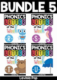 Phonics Letter of the Week BUNDLE 5