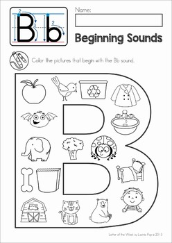 Alphabet Phonics Letter of the Week B by Lavinia Pop | TpT
