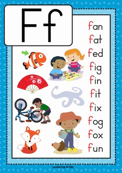 3 letter words ending in f phonics letter of the week f by lavinia pop teachers pay 20074