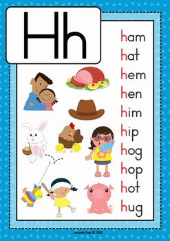 phonics letter of the week h by lavinia pop teachers pay teachers. Black Bedroom Furniture Sets. Home Design Ideas