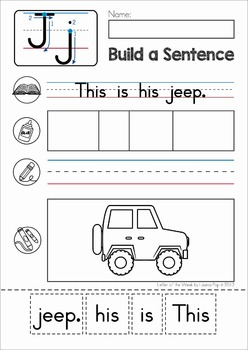 Phonics Letter of the Week J