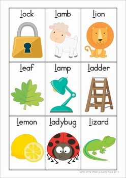phonics letter of the week l by lavinia pop teachers pay teachers. Black Bedroom Furniture Sets. Home Design Ideas