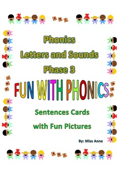 Phonics (Letters & Sounds) Phase3: Fun Sentences with Pict