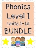 Phonics Level 1 BUNDLE, Units 1-14