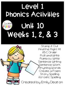 Phonics Level 1 Unit 10