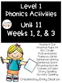 Phonics Level 1 Unit 11