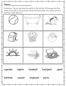 Phonics Level 1 Unit 12- two syllable words, trick words