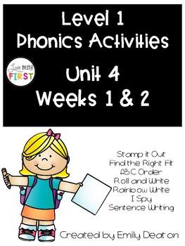 Phonics Level 1 Unit 4