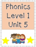 Phonics Level 1 Unit 5- glued sounds am, an, and trick words