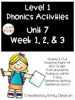 Phonics Level 1 Unit 7