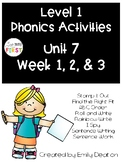 Phonics Level 1 Unit 7
