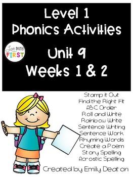 Phonics Level 1 Unit 9