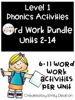 Phonics Level 1 Word Work Bundle