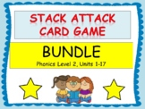 "Phonics Level 2 ""Stack Attack"" Card Games BUNDLE- 16 Games!"