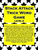 """Phonics Level 2 """"Stack Attack"""" Trick Word Game *updated*"""