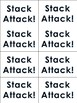 "Phonics Level 2 ""Stack Attack"" Trick Word Game"