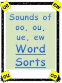 Phonics Level 2 Unit 15 Word Sorts: Sounds of ou, oo, ue, ew