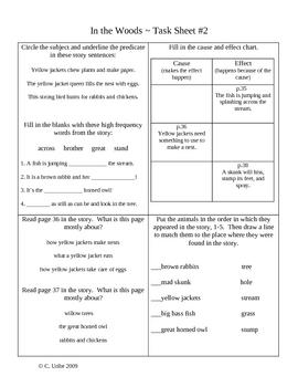 Phonics Library Activity Sheets ~ 2nd Grade ~ Theme 2 ~ Nature Walk