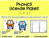 Phonics License Plates: R-controlled ir, er, ur - Word Work
