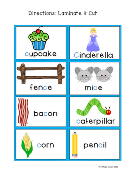 Literacy Center-Phonics {Hard & Soft G & C}