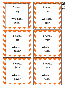 Phonics: Long A- I Have, Who Has?