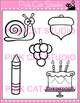 Phonics Long A Vowel Sound Clip Art Set - Personal or Commercial Use
