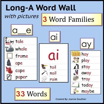 Phonics Word Wall: Long A