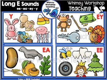 Phonics: Long E Sounds Bundle EE EA EY Y - Whimsy Workshop Teaching