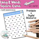 Phonics Long E Words Square Game