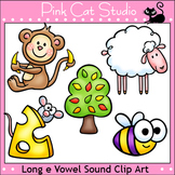 Phonics Long E Vowel Sound Clip Art Set - Personal or Commercial Use