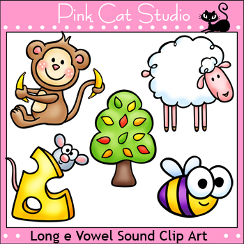 Phonics Long E Vowel Sound Clip Art Set - Personal or Commercial Use