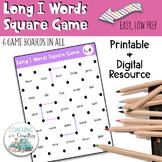 Phonics Long I Words Square Game