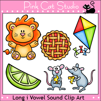 Phonics Long I Vowel Sound Clip Art Set - Personal or Commercial Use