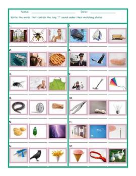 Phonics Long I Vowel Sound Worksheet