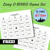 Phonics Practice Game - Long O BINGO Game Set - FREE!