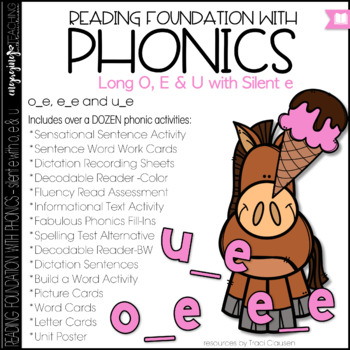 Phonics - Long O, U and E with Silent E - Reading Foundation with Phonics