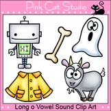 Phonics Long O Vowel Sound Clip Art Set - bone, coat, ghost, goat, robot