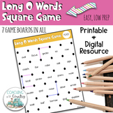 Phonics Long O Words Square Game