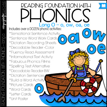 Phonics - Long O with OW, OA, and OE - Reading Foundation with Phonics