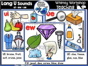 Phonics: Long U Sounds Bundle UE UI EW - Whimsy Workshop Teaching