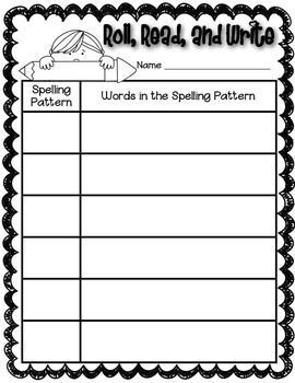 Phonics (Long U Spelling Patterns) Roll, Read, and Write Activity ~ Free!