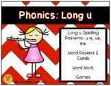 Phonics: Long u Spelling Patterns (u-e, ue, ew)