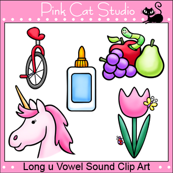 Phonics Long U Vowel Sound Clip Art Set - Personal or Commercial Use