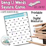 Phonics Long U Words Square Game