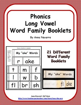 Phonics Long Vowel Booklets