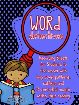 Phonics Long Vowel Sounds Recording Sheet NO PREP