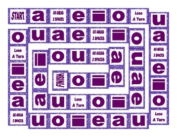 Phonics Long Vowel Sounds Text Board Game
