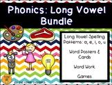 Phonics: Long Vowel Spelling Patterns (a, e, i, o, u) BUNDLE